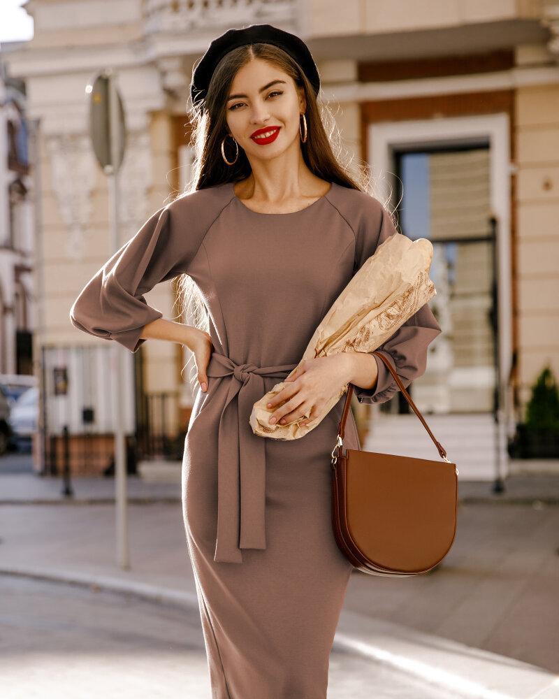 Платье с объемными рукавами фото
