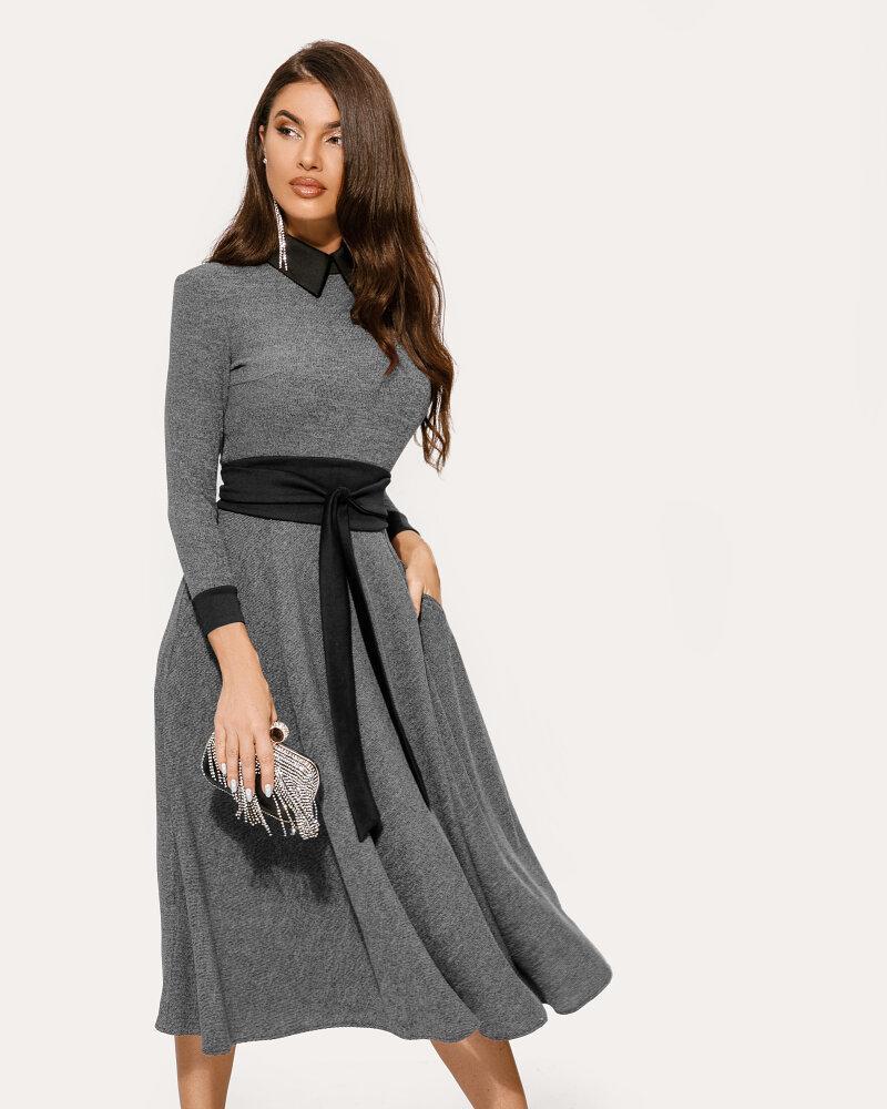Трикотажное расклешенное платье фото