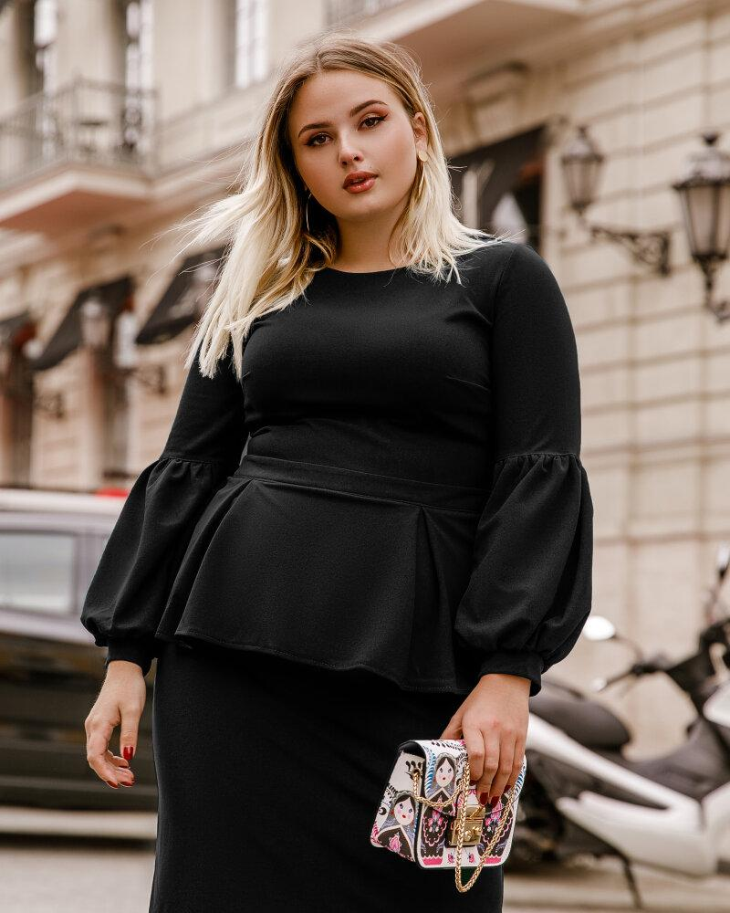 Черное платье с баской фото