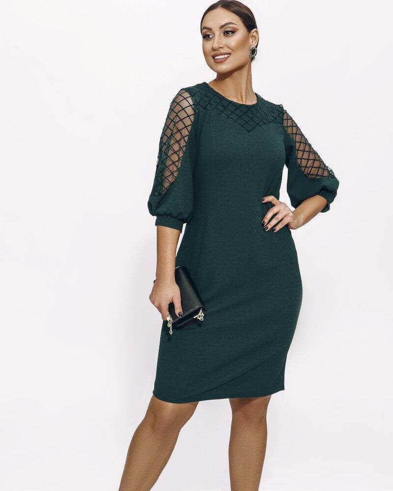 Платье со вставками на рукавах