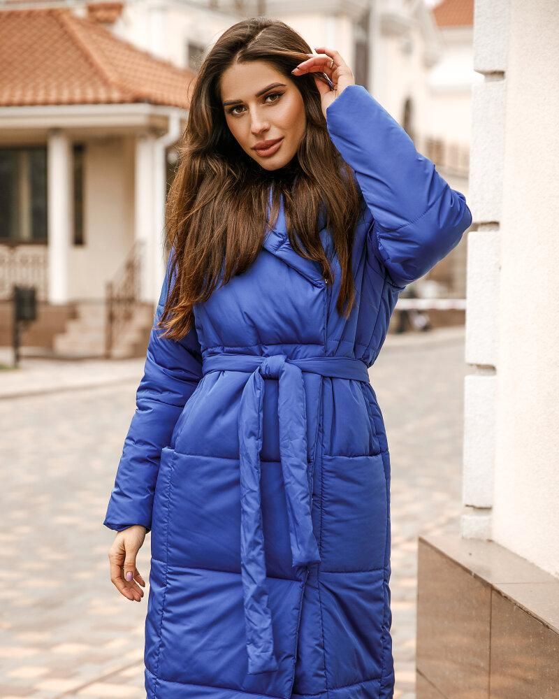 Купить Verhnyaya-odezhda_kurtki_kurtki-na-sintepone, Удлиненная куртка синего цвета, Gepur