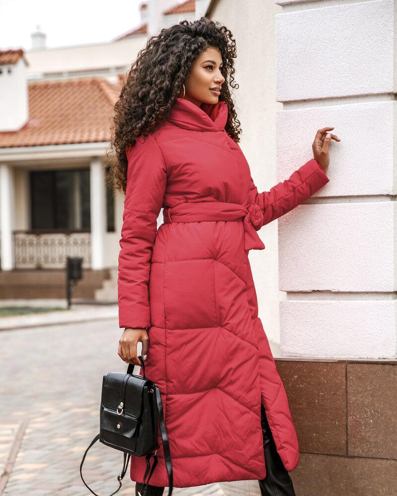 Купить Verhnyaya-odezhda_kurtki_kurtki-na-sintepone, Алая удлиненная куртка, Gepur