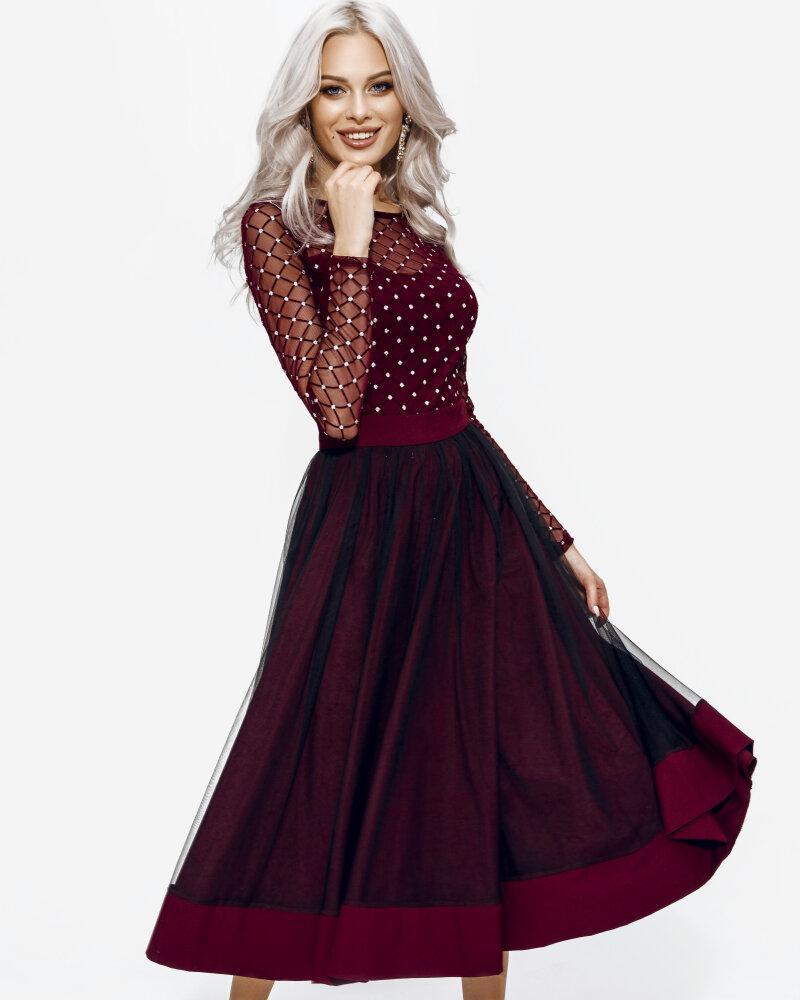 Платье оттенка марсала фото