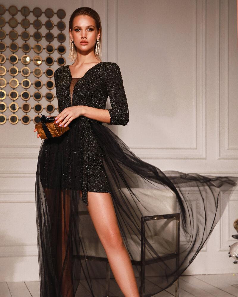Платье с воздушной юбкой из фатина фото