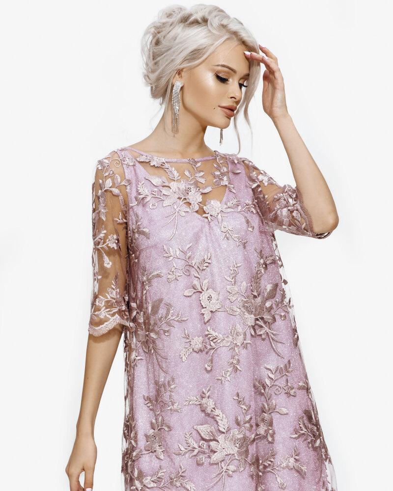 Розовое платье а-силуэта фото