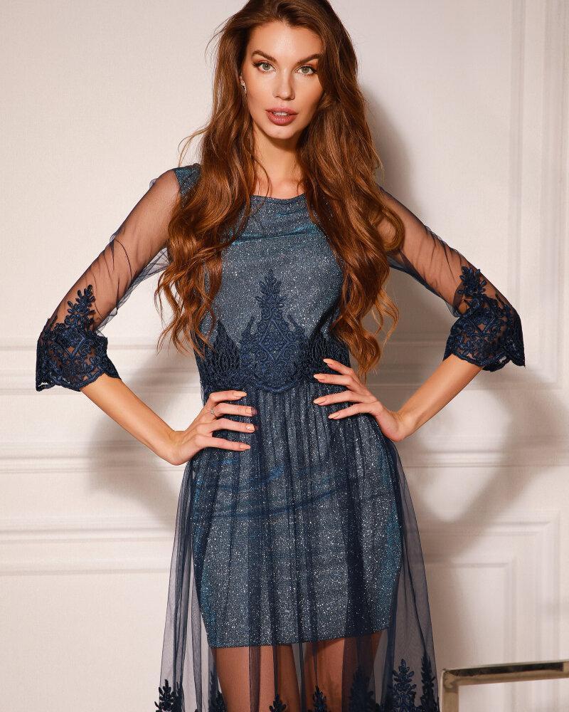Платье с контрастным кружевом фото