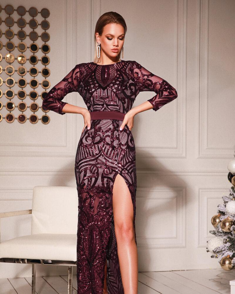 Платье с пайеточной россыпью фото