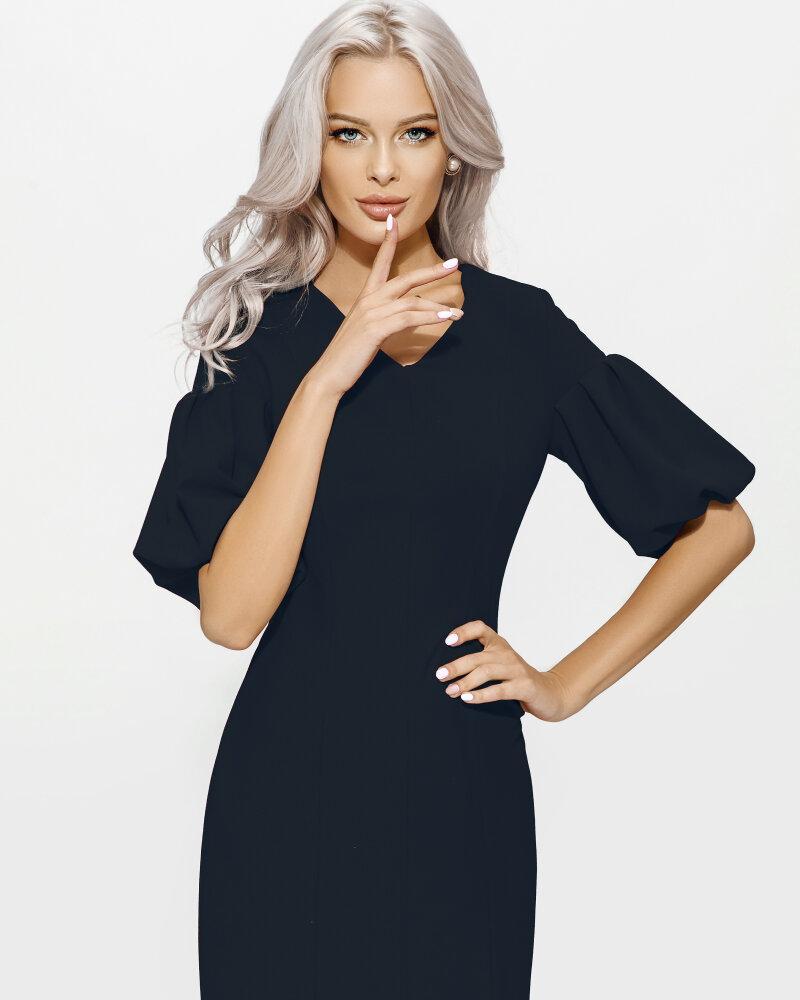 Платье с объемным рукавом фото