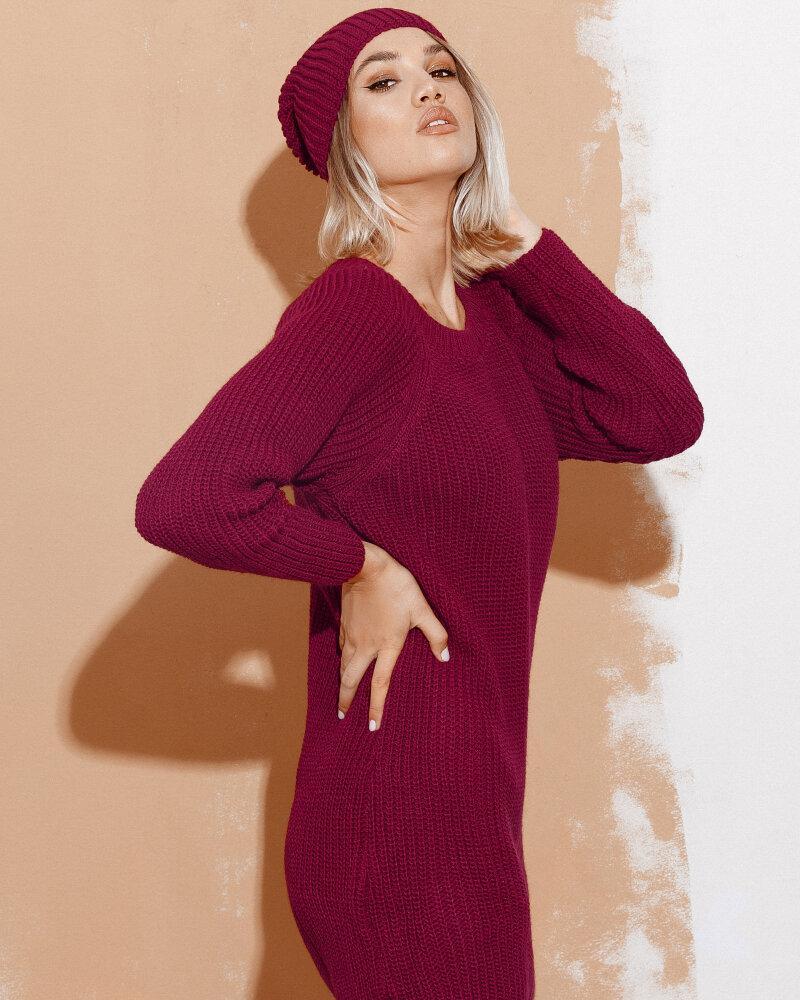 Купить Platya_teplye-platya, Платье с шапкой бордового цвета, Gepur