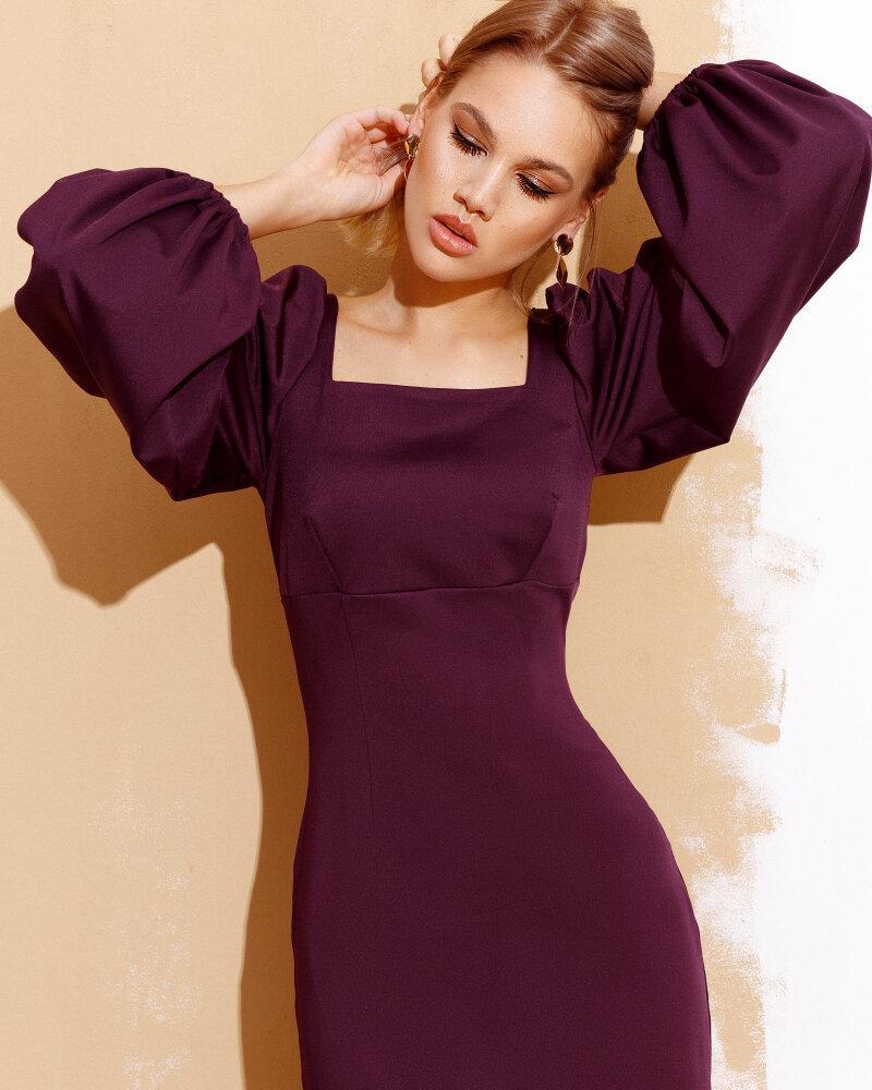 Платье черничного цвета фото