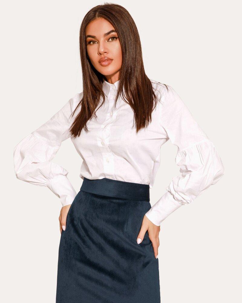 Вельветовая синяя юбка фото