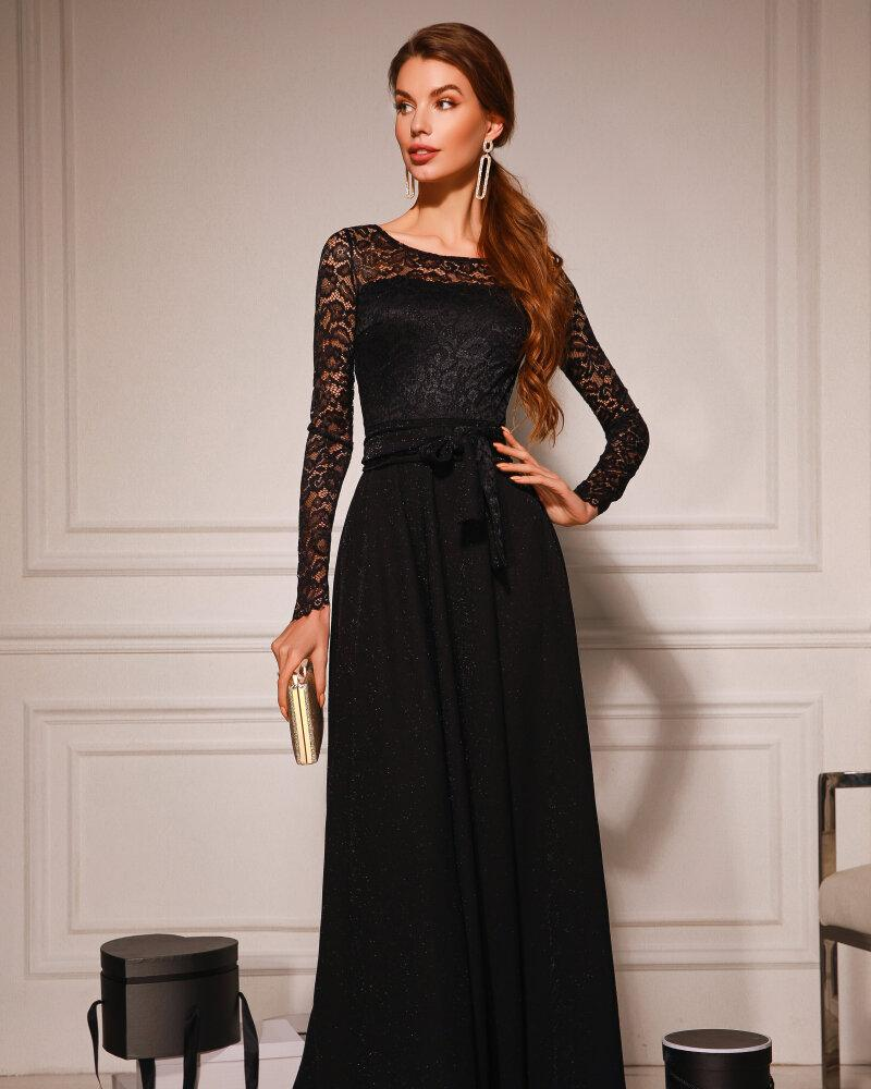Кружевное вечернее платье-макси фото