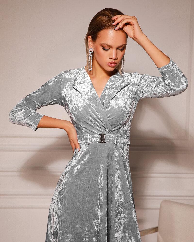 Бархатное платье с драпировкой фото