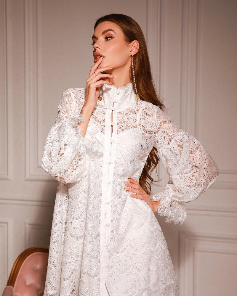 Купить Platya_platya-bolshih-razmerov, Кружевное белое платье, Gepur
