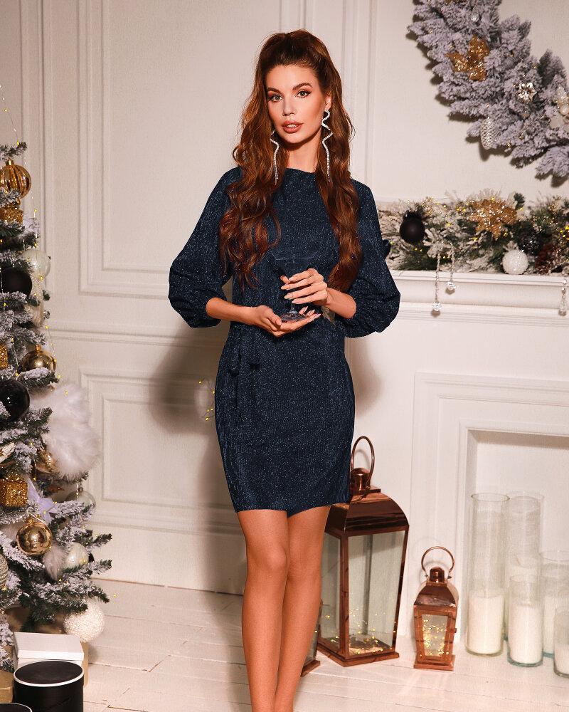 Платье темно-синего цвета фото