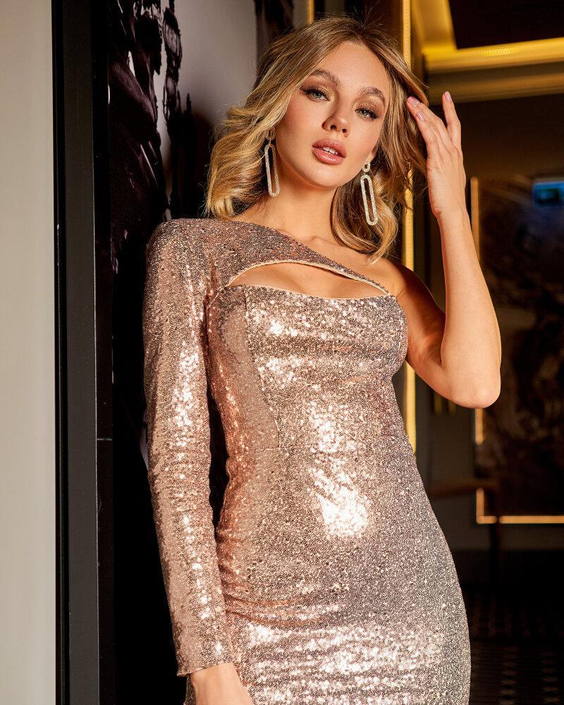 Платье-мини с эффектными вырезами фото