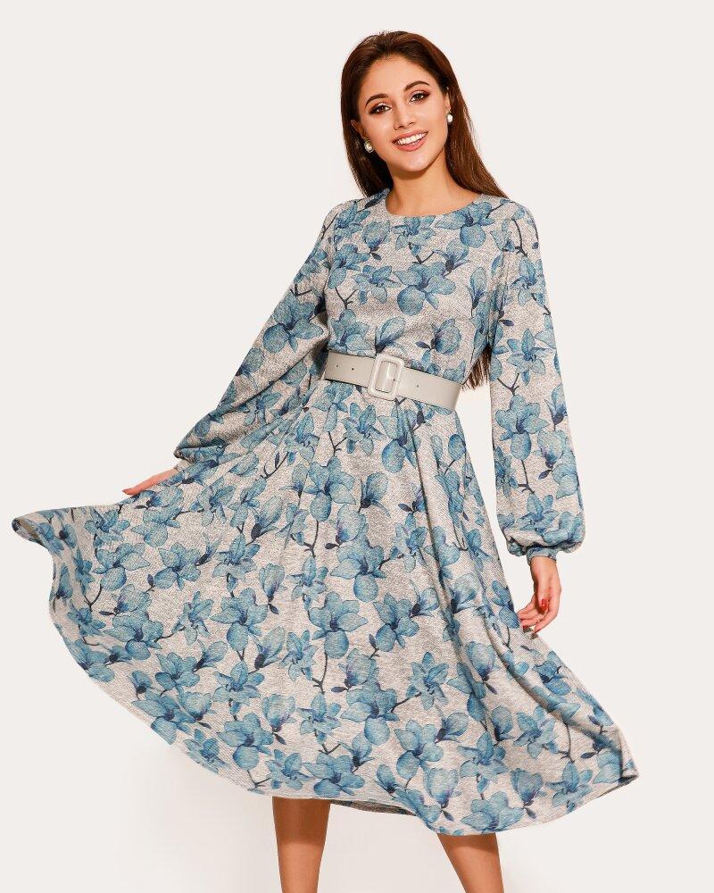 Платье в цветочный принт фото
