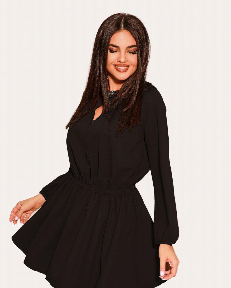 Платье-клеш черного цвета