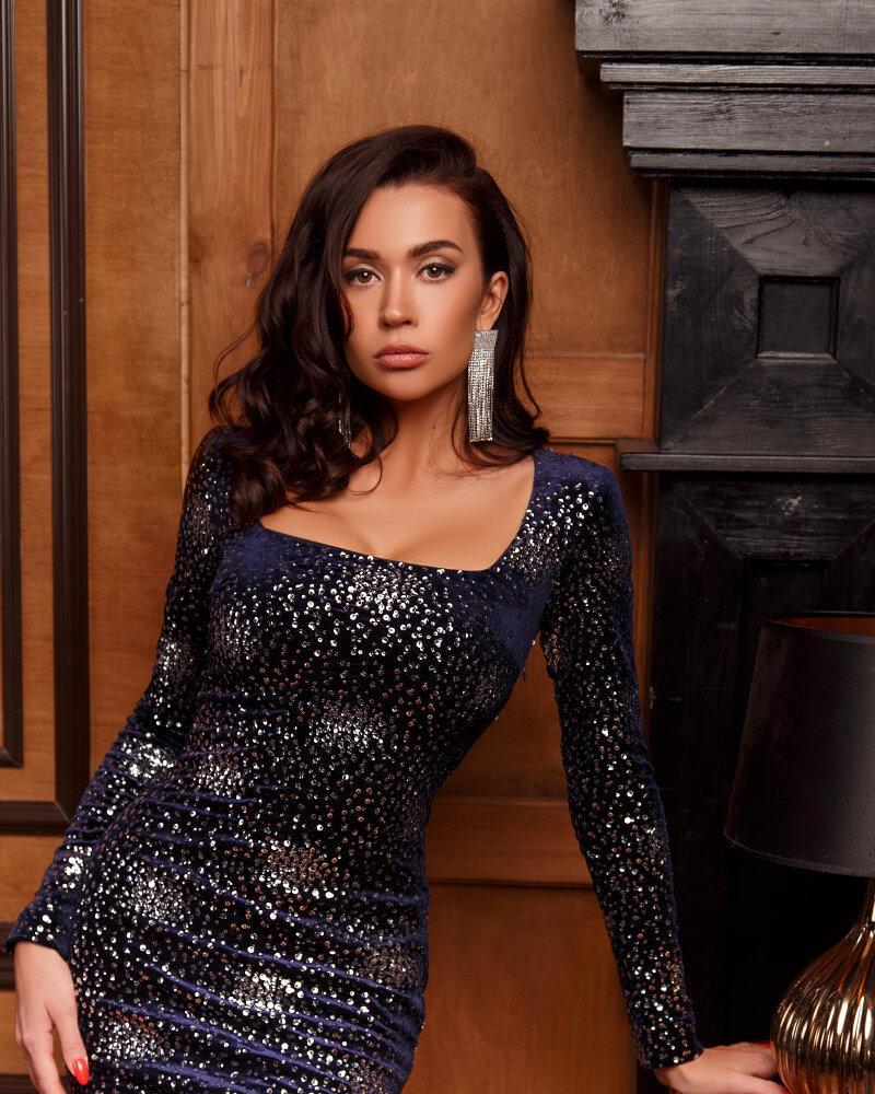 Велюровое вечернее платье фото