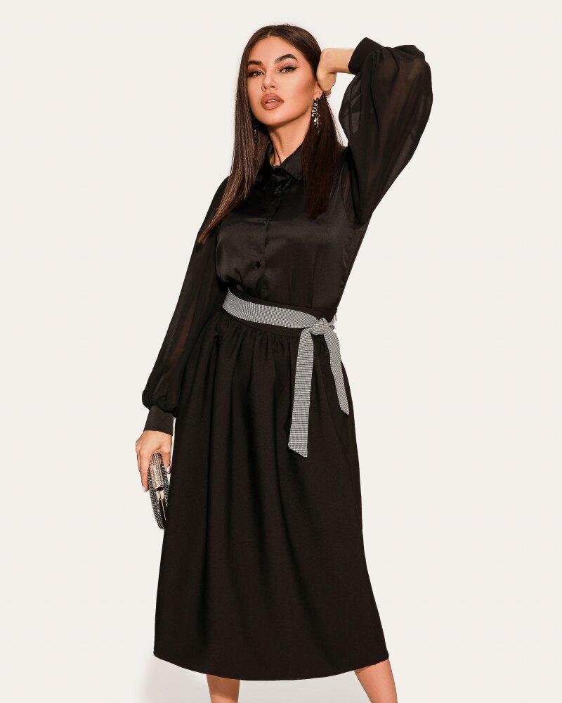 Классическая юбка черного цвета фото