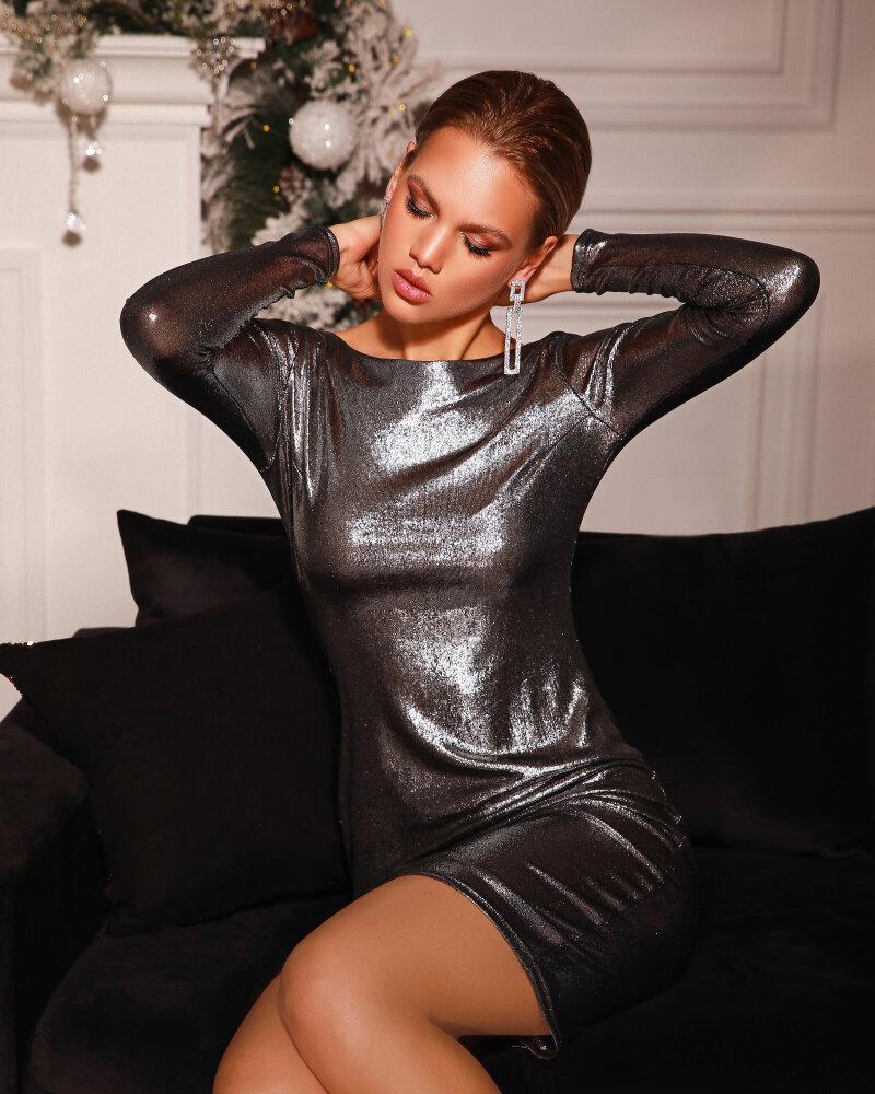 Платье с эффектом металлик фото