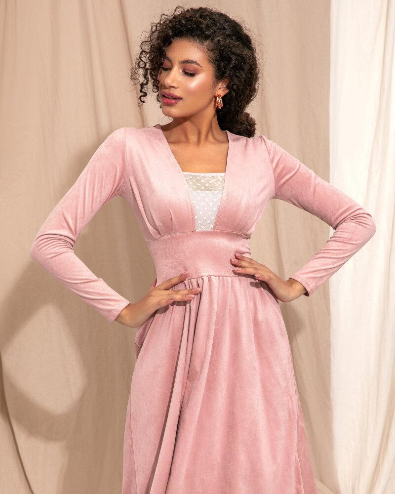 Романтичное замшевое платье фото