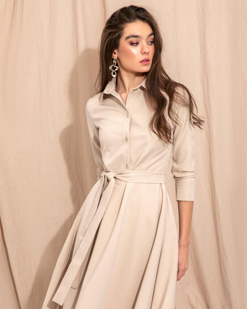 Однотонное платье-мини фото