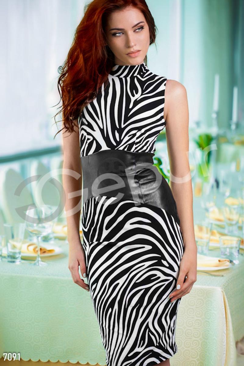 Платье цвет зебры