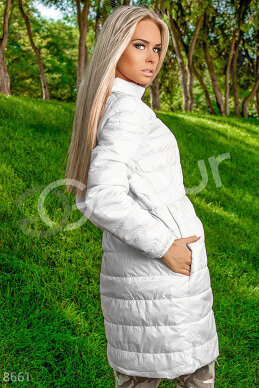 Coat quilted pink photo 1