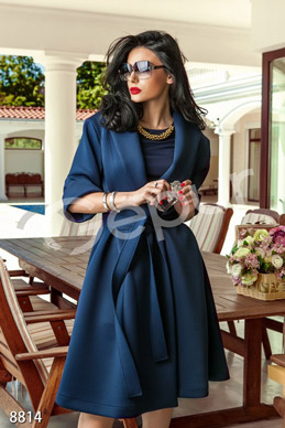 Dark blue coat with 3/4 sleeve photo 1