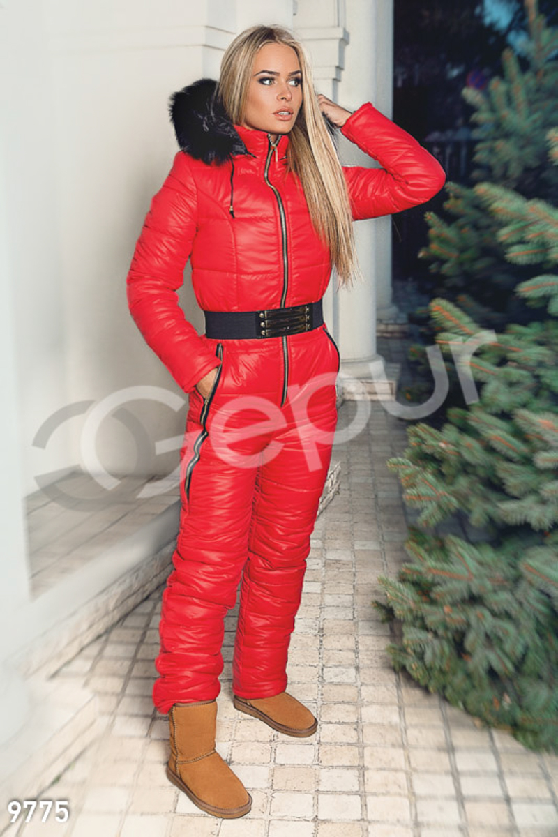 Bright winter jumpsuit Red 9775