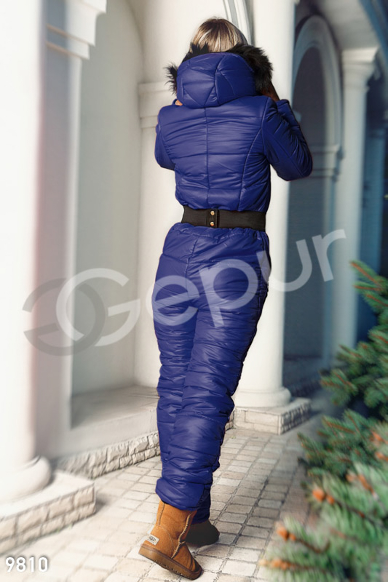 Quilted winter jumpsuit Blue 9810