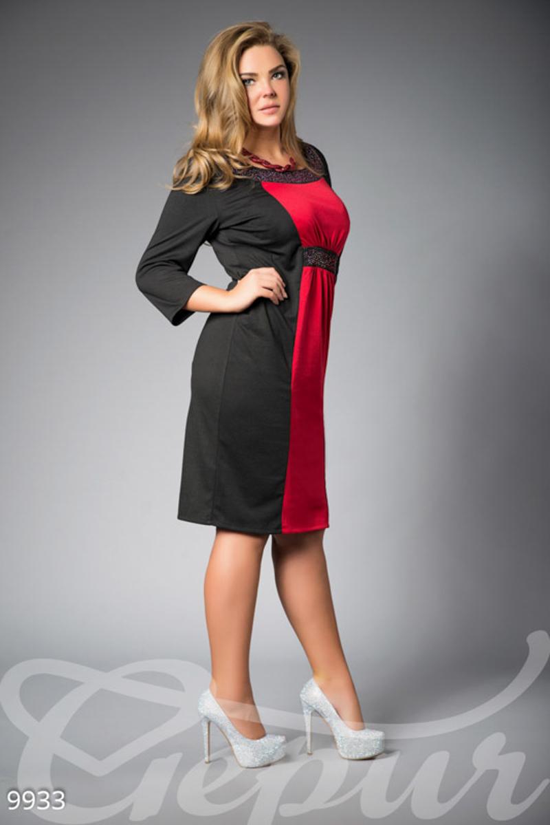 6c450e37ae1292a Элегантное черное платье с высокой талией - купить оптом и в розницу | GEPUR