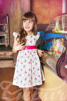 Dress for girl with flowers photo 1