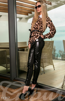 Combination leather leggings photo 1