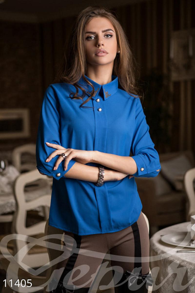 Блуза без пуговиц