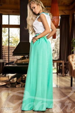 Lush menthol skirt Maxi with pockets photo 1