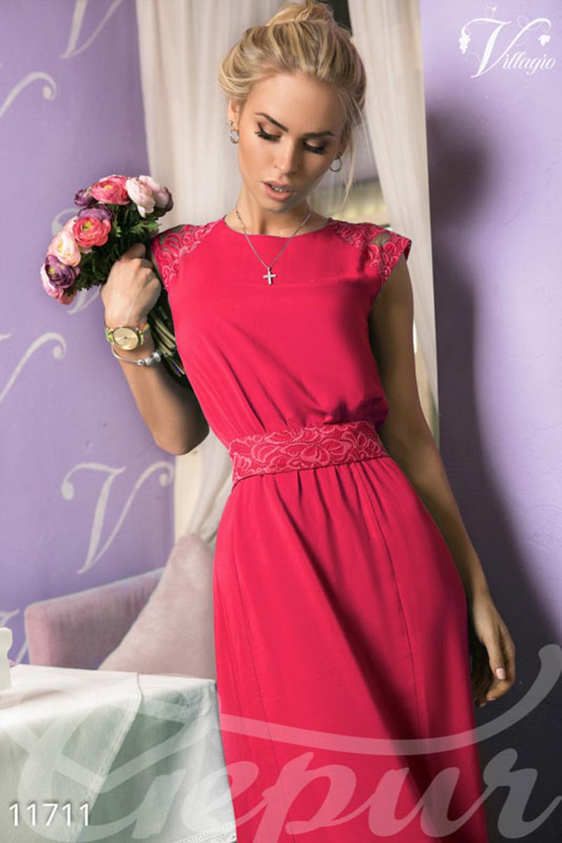 4a6c601362d1621 Коралловое длинное платье - купить оптом и в розницу | GEPUR