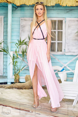 Extraordinary chiffon dress with slits photo 1
