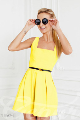 Bright yellow sundress photo 1