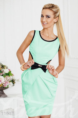 Dress with cutout at back, color menthol photo 1