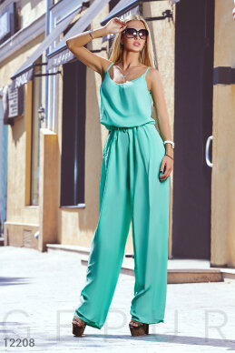 Jumpsuit with shoulder straps slim photo 1