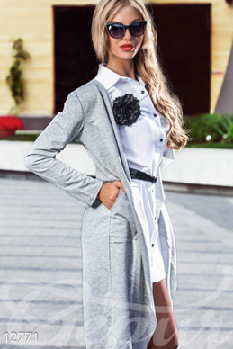Light grey cardigan photo 1