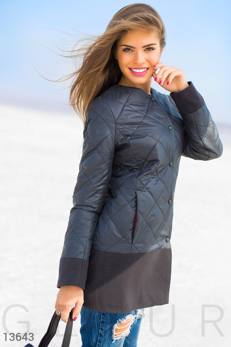 Jacket with cashmere on the buttons Black 13643