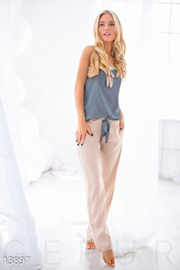 Pajamas made of satin and lace photo 1
