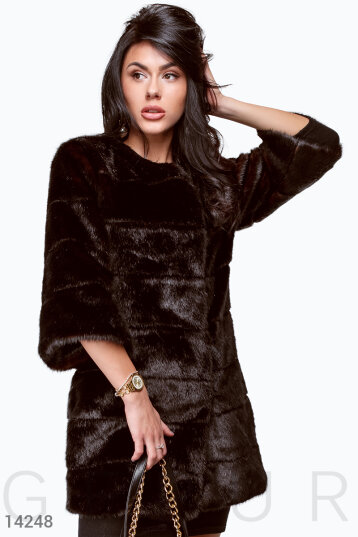 Elegant long coat by mink photo 1
