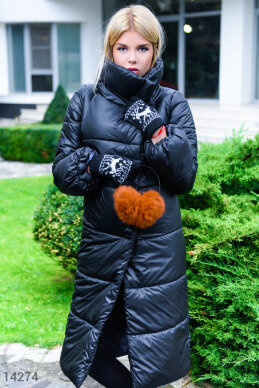 Voluminous quilted coat photo 1
