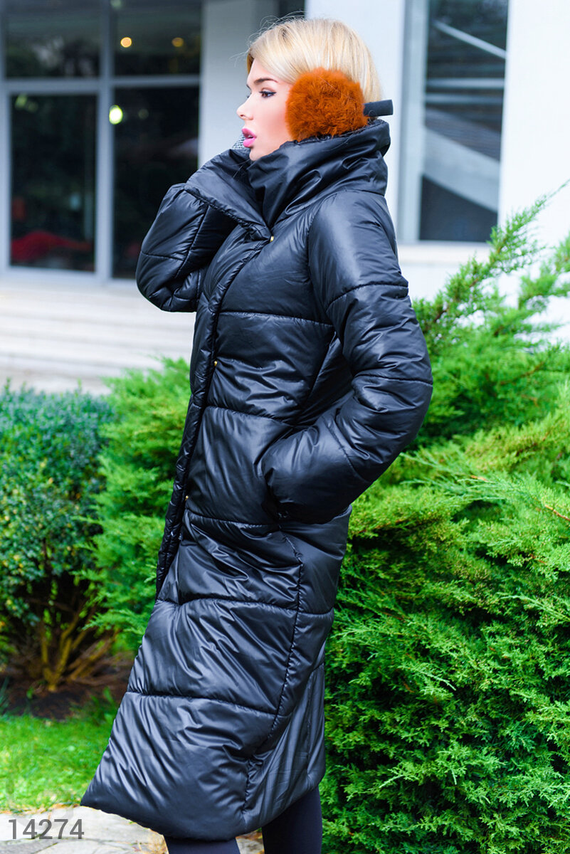 Voluminous quilted coat Black 14274