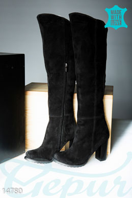 High suede boots photo 1