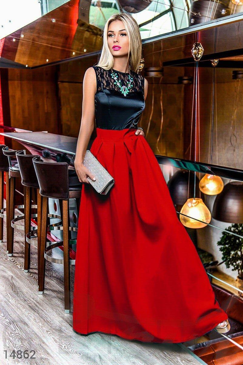 bfff9a1cd2d787 Вишукане вечірнє плаття зі спідницею з габардину - купити оптом і уроздріб    GEPUR